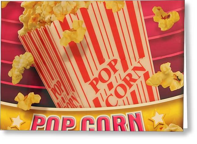 Pop Corn Greeting Card by Cynthia Guinn