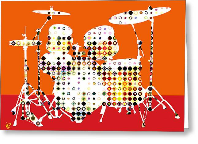 Hi Hat Greeting Cards - Pop Drums Greeting Card by Russell Pierce
