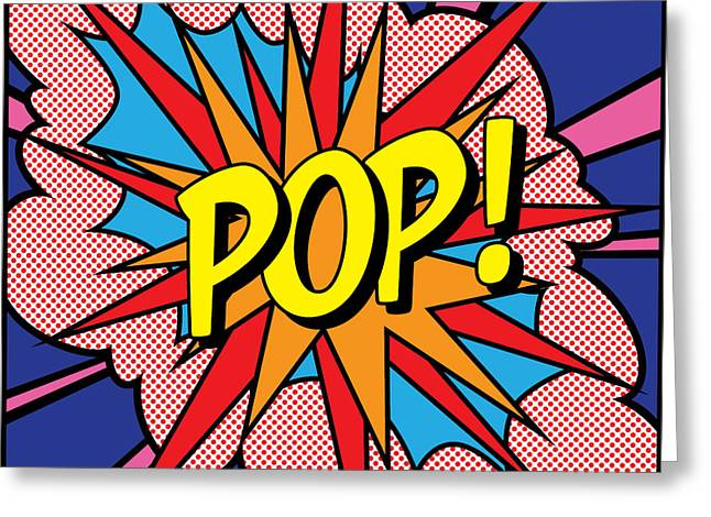 Warhol Greeting Cards - POP Exclamation Greeting Card by Gary Grayson