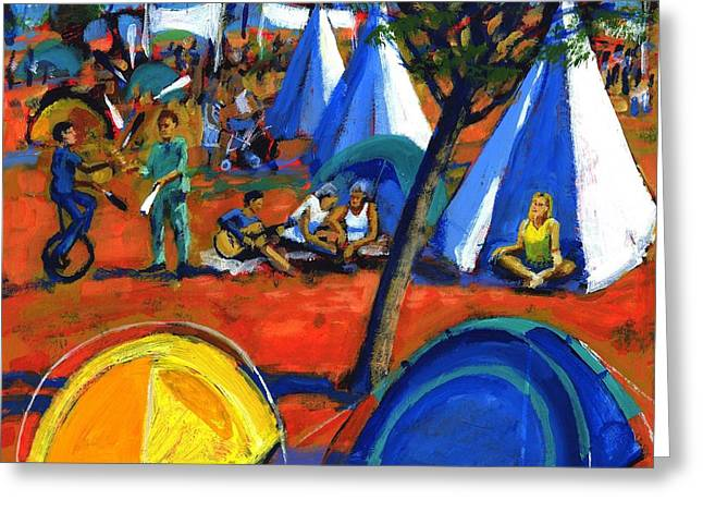 Mud Greeting Cards - Pop Festival Greeting Card by Paul Powis