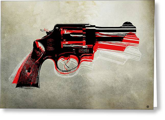 Decorative Greeting Cards - POP Hand Gun Greeting Card by Gary Grayson