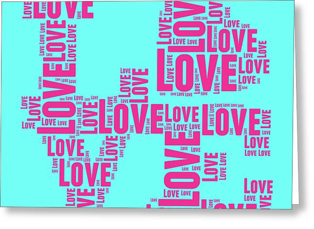 Word Cloud Greeting Cards - Pop Love 1 Greeting Card by Delphimages Photo Creations