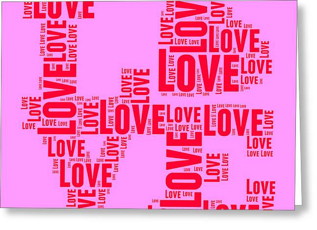 Word Cloud Greeting Cards - Pop Love 4 Greeting Card by Delphimages Photo Creations