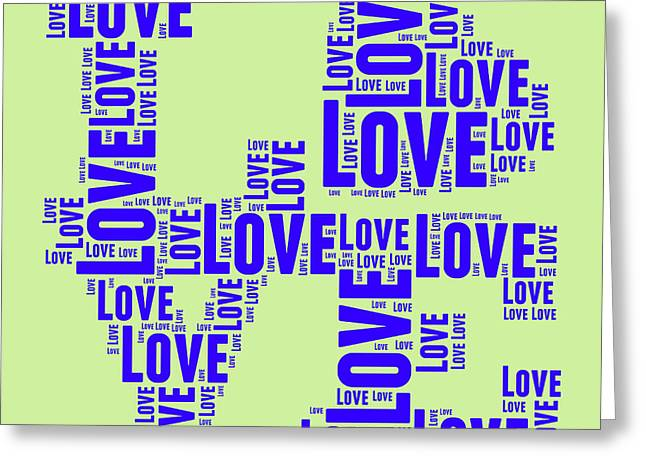 Word Cloud Greeting Cards - Pop Love 5 Greeting Card by Delphimages Photo Creations