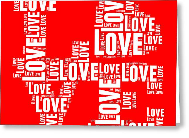 Word Cloud Greeting Cards - Pop Love 6 Greeting Card by Delphimages Photo Creations