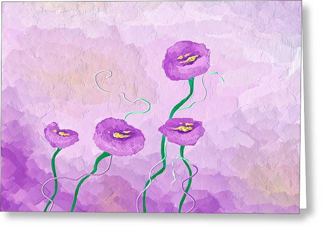 Bryant Greeting Cards - Pop of Purple Greeting Card by Brenda Bryant