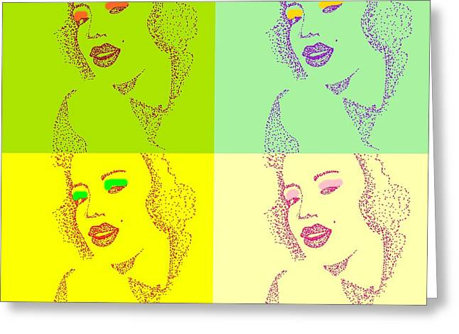 Popart Greeting Card by Anne Costello