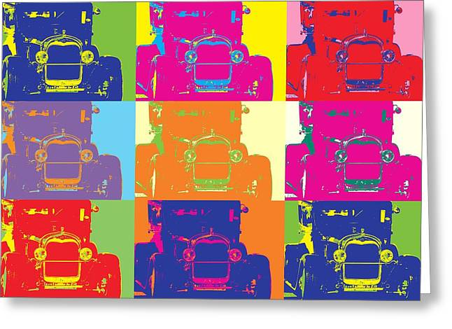 Antenna Mixed Media Greeting Cards - Popart ford Greeting Card by Toppart Sweden
