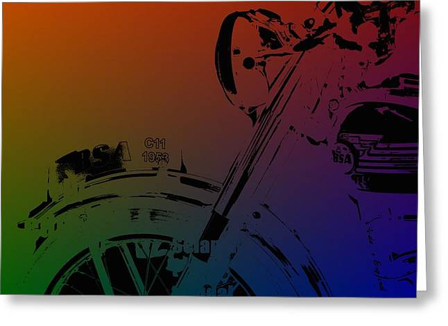 Test Pattern Greeting Cards - Popart old MC Greeting Card by Toppart Sweden
