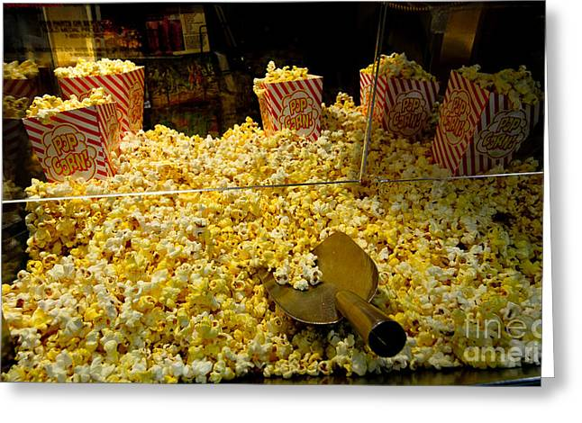 Flick Photographs Greeting Cards - Popcorn At The Matinee Greeting Card by Robert Frederick
