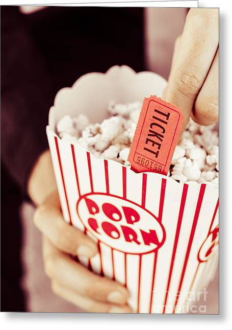 Popcorn Box Office Greeting Card by Jorgo Photography - Wall Art Gallery