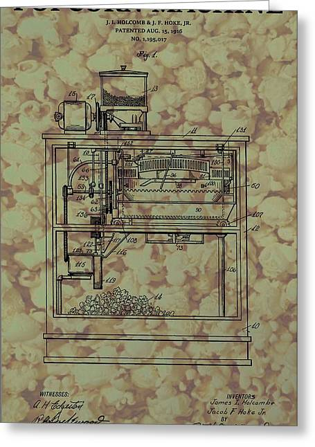 Popcorn Machine Poster Greeting Card by Dan Sproul