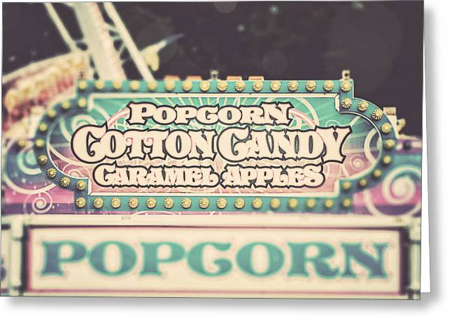 Popcorn Greeting Cards - Popcorn Stand Carnival Photograph from the Summer Fair Greeting Card by Lisa Russo