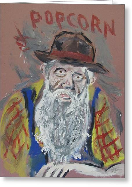Sutton Paintings Greeting Cards - PopCorn Sutton    Greeting Card by Eric Cunningham