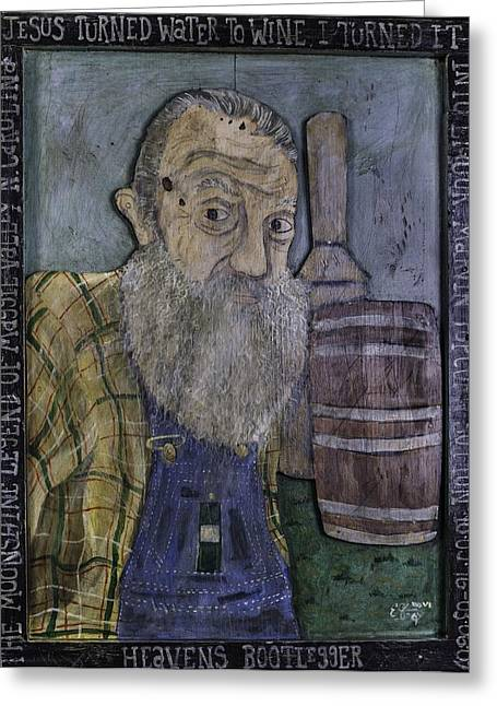 Popcorn Sutton - Heaven's Bootlegger Greeting Card by Eric Cunningham