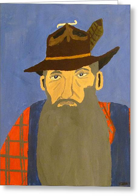 Sutton Paintings Greeting Cards - Popcorn Sutton Greeting Card by Jacob Kirk