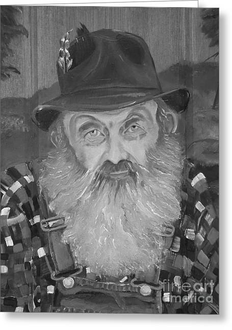 Sutton Paintings Greeting Cards - Popcorn Sutton - Jam - Moonshine Greeting Card by Jan Dappen