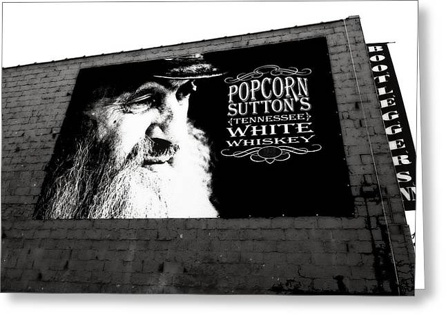 Nashville Tennessee Greeting Cards - Popcorn Suttons Tennessee White Whiskey Greeting Card by Dan Sproul