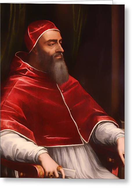 Religious work Paintings Greeting Cards - Pope Clement VII Greeting Card by Sebastino del Piombo