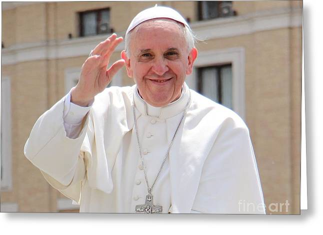 Pope Francis Greeting Card by Diane Greco-Lesser