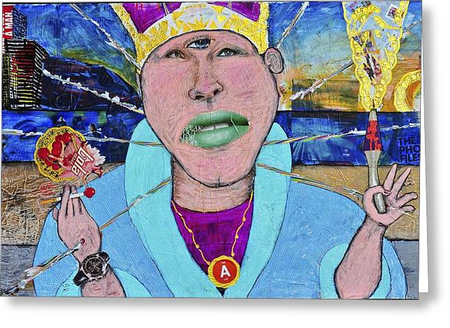 Maui Mixed Media Greeting Cards - Pope of Pie Greeting Card by Billy Knows
