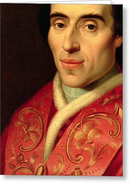 Clergy Greeting Cards - Pope Pius VII Greeting Card by Anonymous