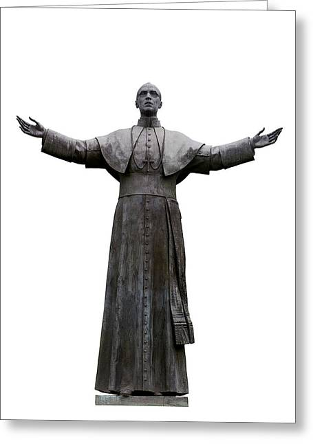 White Background Greeting Cards - Pope Pius XII Greeting Card by Fabrizio Troiani