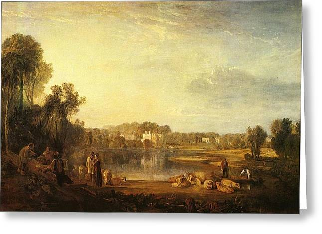 Jmw Greeting Cards - Popes villa at Twickenham 1808 Greeting Card by Joseph Mallord William Turner
