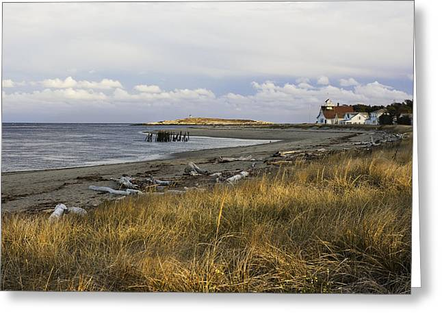 Maine Beach Greeting Cards - Popham Beach on the Maine Coast Greeting Card by Keith Webber Jr