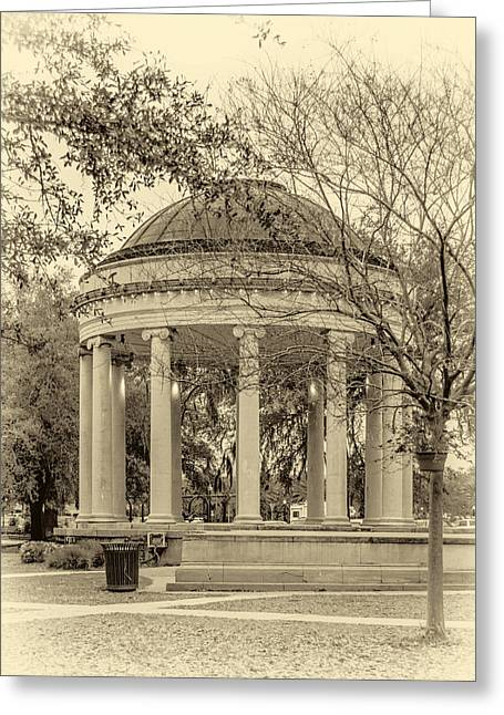 Bandstand Greeting Cards - Popp Bandstand sepia Greeting Card by Steve Harrington