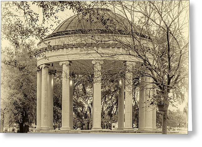 Popp Bandstand sepia Greeting Card by Steve Harrington