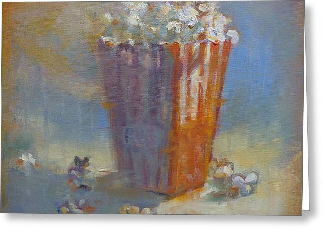 Popped Corn Greeting Card by Donna Shortt