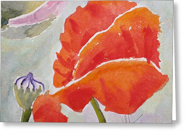 Fineartamerica Greeting Cards - Poppies 1 Greeting Card by Mohamed Hirji