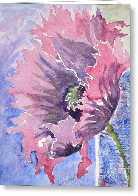 Mohamed Greeting Cards - Poppies 2 Greeting Card by Mohamed Hirji