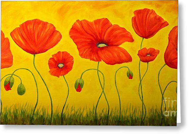 Poppies At The Time Of Greeting Card by Veikko Suikkanen