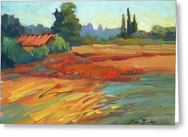 Desert Lake Greeting Cards - Poppies Bedoin Provence Greeting Card by Diane McClary