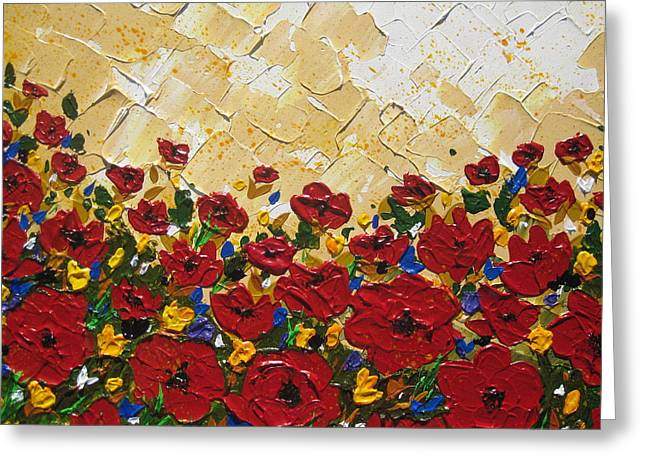 Print Of Poppy Greeting Cards - Poppies Greeting Card by Cathy Jacobs