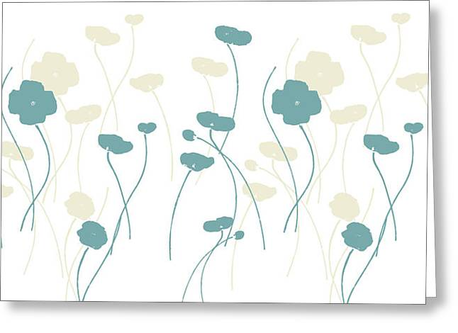 Abstract Art Greeting Cards - Poppies DII Greeting Card by Carmen Guedez