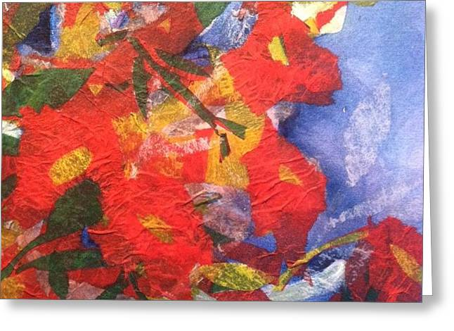 Poppies Gone Wild Greeting Card by Sherry Harradence