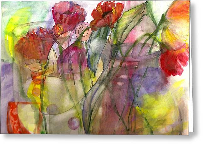 Claudia Smaletz Greeting Cards - Poppies in the Sun Greeting Card by Claudia Smaletz