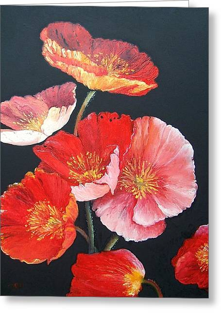 Print Of Poppy Greeting Cards - Poppies Greeting Card by Jan Matson