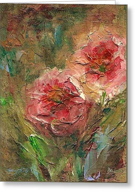 Poppies Greeting Card by Mary Wolf