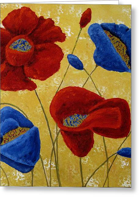 Susan Mclean Gray Greeting Cards - Poppies Greeting Card by Susan McLean Gray