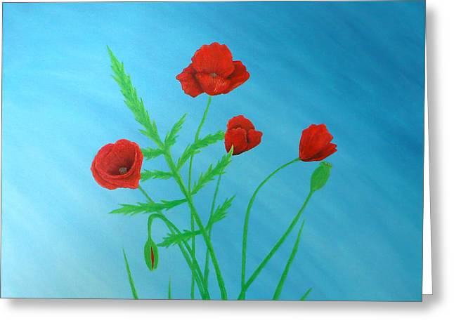 Fruehling Greeting Cards - Poppies Greeting Card by Sven Fischer