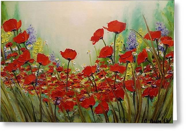 Svetla Dimitrova Greeting Cards - Poppies Greeting Card by Svetla Dimitrova