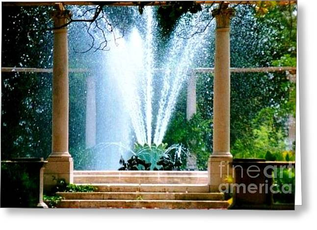 New Orleans Louisiana Plant Framed Prints Greeting Cards - Popps Fountain At City Park In New Orleans Louisiana Greeting Card by Michael Hoard