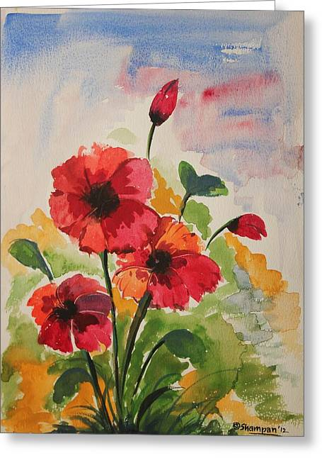 Shakhenabat Kasana Greeting Cards - Poppy blossom 2 Greeting Card by Shakhenabat Kasana