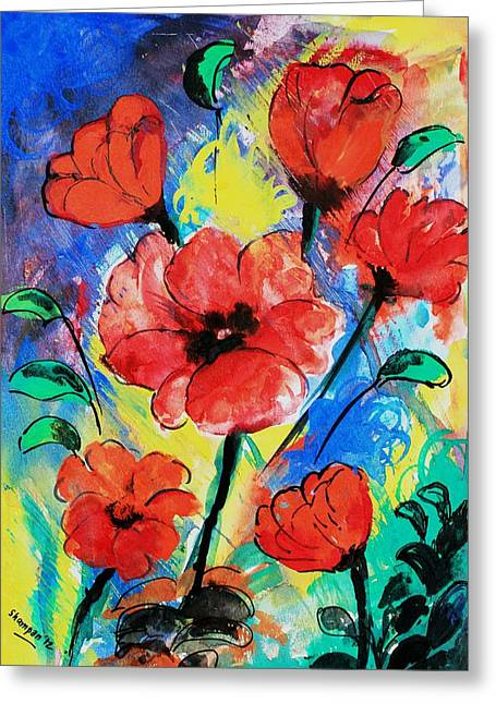 Shakhenabat Kasana Greeting Cards - Poppy blossom Greeting Card by Shakhenabat Kasana