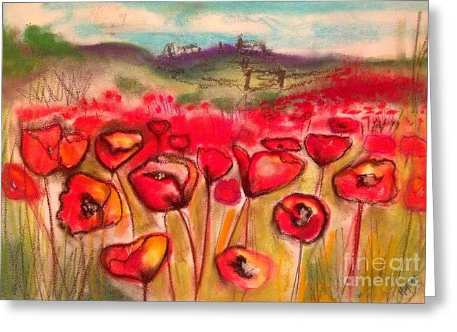 Michelle Greeting Cards - Poppy Field Greeting Card by Michelle Hynes