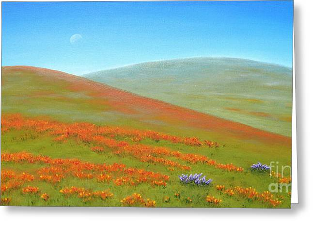Jerome Stumphauzer Greeting Cards - Poppy Fields Greeting Card by Jerome Stumphauzer